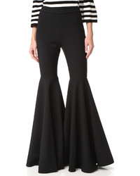 Pantalon flare noir Milly