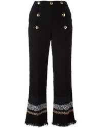Pantalon flare noir Sonia Rykiel