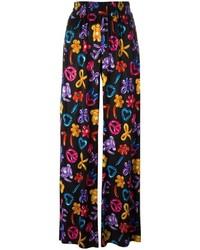 Pantalon imprimé noir Love Moschino