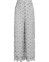 Pantalon large à fleurs blanc Zimmermann