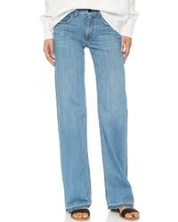 Pantalon large en denim bleu clair Helmut Lang