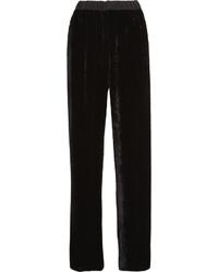 Pantalon large en velours noir Fendi