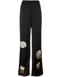 Pantalon large orné noir Ports 1961
