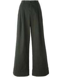 Pantalon large vert foncé P.A.R.O.S.H.