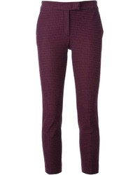 Pantalon slim à carreaux pourpre Joseph