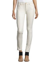 Pantalon slim en cuir blanc 7 For All Mankind