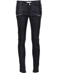 Pantalon slim en cuir noir Anine Bing