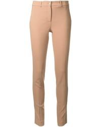 Pantalon slim en laine marron clair Michael Kors