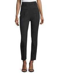 Pantalon slim en laine noir Diane von Furstenberg