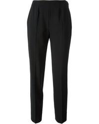 Pantalon slim en laine noir Piazza Sempione