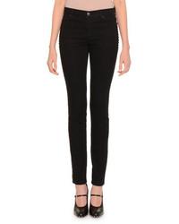 Pantalon slim en laine noir Valentino