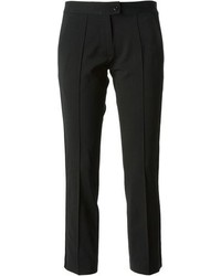 Pantalon slim en laine noir Vanessa Bruno