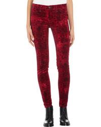 Pantalon slim imprimé rouge J Brand