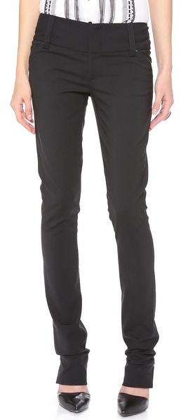 Pantalon slim noir Alice + Olivia