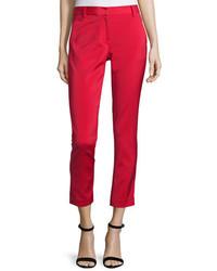 Pantalon slim rouge Tibi