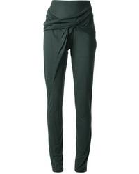 Pantalon slim vert foncé Anne Valerie Hash