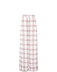Pantalones anchos a cuadros blancos de Patbo