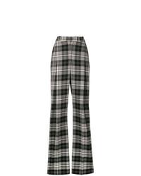 Pantalones anchos a cuadros en gris oscuro de Ermanno Scervino