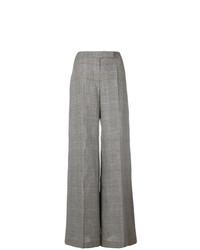 Pantalones anchos a cuadros grises de Antonio Berardi