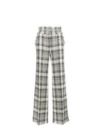 Pantalones anchos a cuadros grises de MSGM