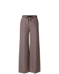 Pantalones anchos a cuadros morado oscuro de Department 5