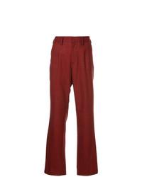 Pantalones anchos a cuadros rojos de Kolor