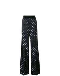 Pantalones anchos a lunares azul marino de Maison Margiela
