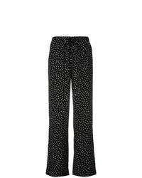 Pantalones anchos a lunares en negro y blanco de P.A.R.O.S.H.
