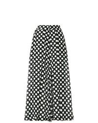 Pantalones anchos a lunares en negro y blanco de Rossella Jardini