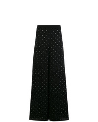 Pantalones anchos a lunares negros de Temperley London