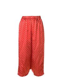 Pantalones anchos a lunares rojos de Comme Des Garçons Vintage