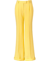Pantalones anchos amarillos