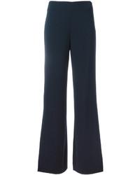 Pantalones anchos azul marino de Diane von Furstenberg