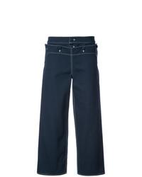 Pantalones anchos azul marino de Harvey Faircloth