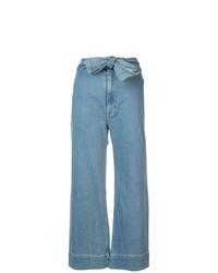 Pantalones anchos celestes de Apiece Apart