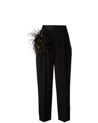 Pantalones anchos con adornos negros de Christopher Kane