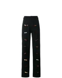 Pantalones anchos con adornos negros de JW Anderson
