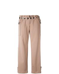 Pantalones anchos con adornos rosados de Romeo Gigli Vintage