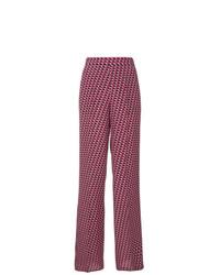 Pantalones anchos con estampado geométrico morado de Etro
