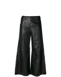 Pantalones anchos de cuero negros de Golden Goose Deluxe Brand