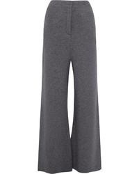 Pantalones anchos de lana en gris oscuro de Stella McCartney