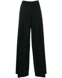 Pantalones anchos de lana negros de Alexander McQueen