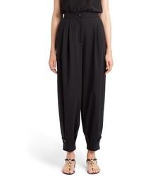 Pantalones anchos de lana negros de Dolce & Gabbana