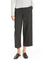 Pantalones anchos de lana negros de Vince