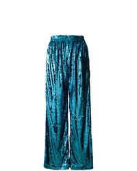 Pantalones anchos de lentejuelas azul marino de Faith Connexion