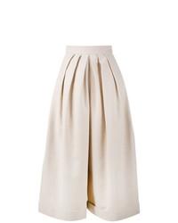 Pantalones anchos de lino en beige de DELPOZO