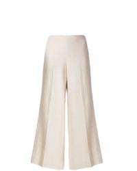 Pantalones anchos de lino en beige de Theory
