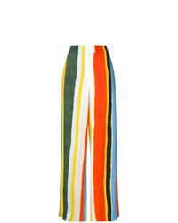 Pantalones anchos de rayas verticales en multicolor de Tory Burch