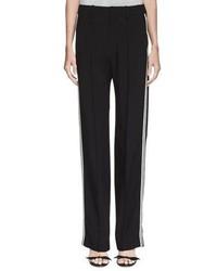 Pantalones anchos de rayas verticales negros de Chloé