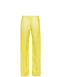 Pantalones anchos de seda amarillos de Supriya Lele
